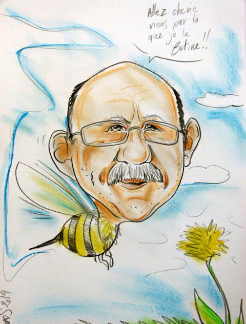Caricature En abeille