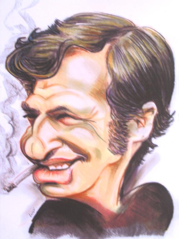 Caricature de Jean-Paul Belmondo