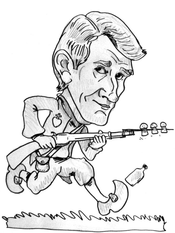 Caricature de Philippe de Villiers