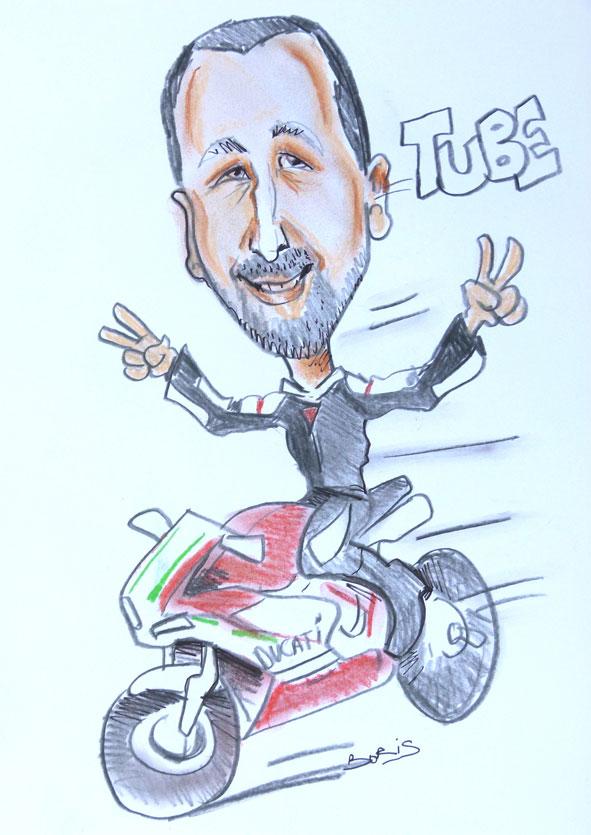 Caricature Moto ducati