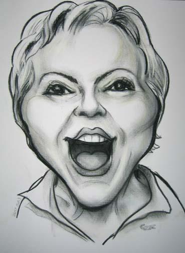 Caricature de Murielle Robin