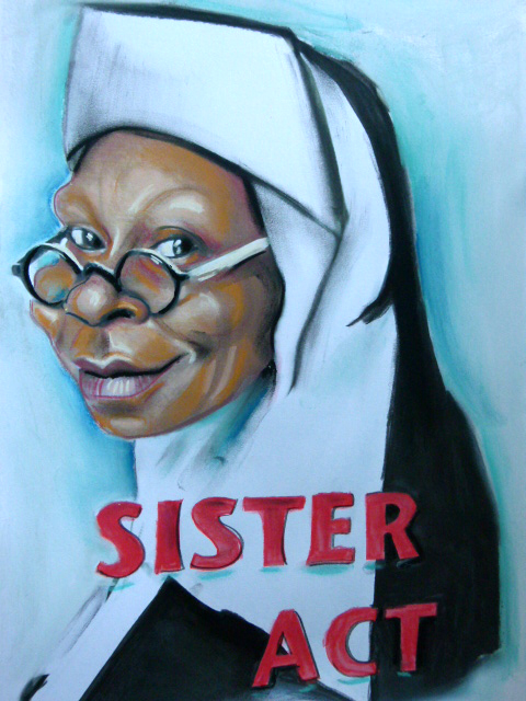 Caricature de Whoopi Goldberg