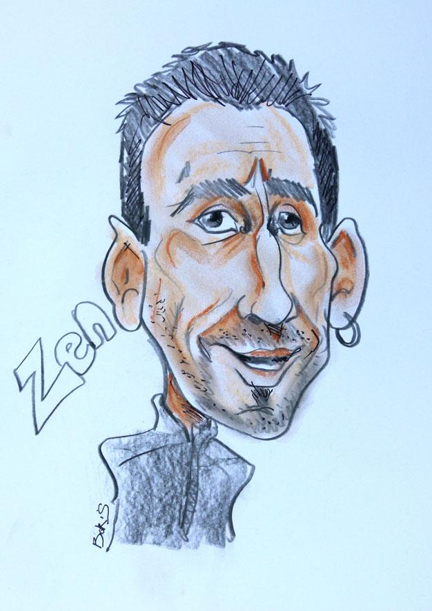 Caricature Zen attitude
