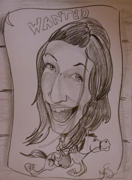 Cowboy caricature à Mirande