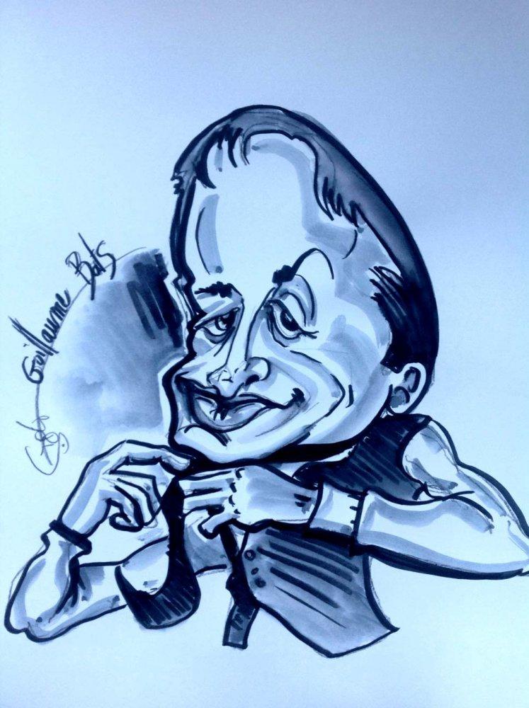 caricature dessin de Guillaume Bats
