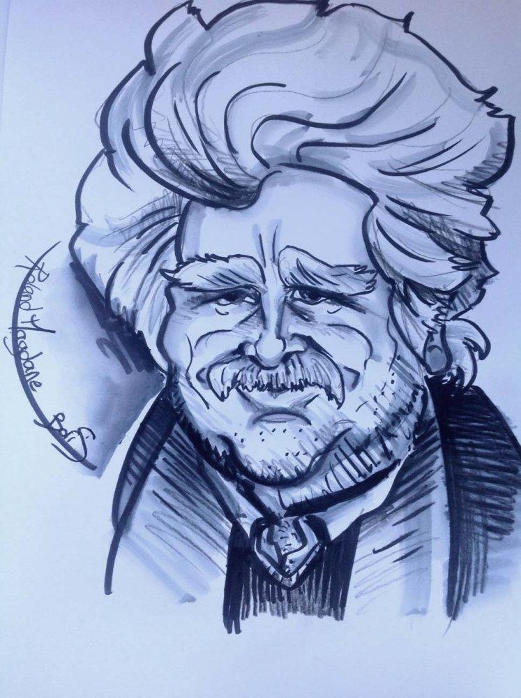 Caricature de Roland Magdane
