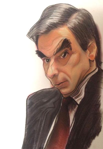 caricature politique François fillon