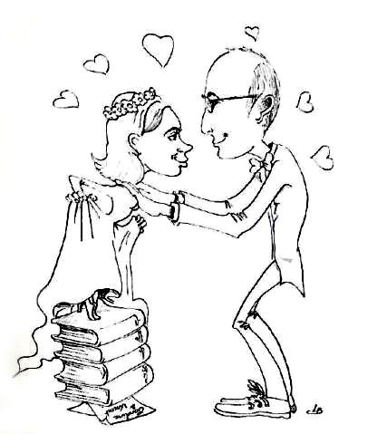 Les mariés en caricature