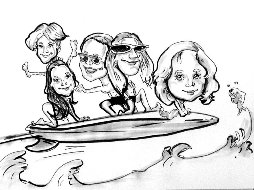 Caricature illustrée de groupe