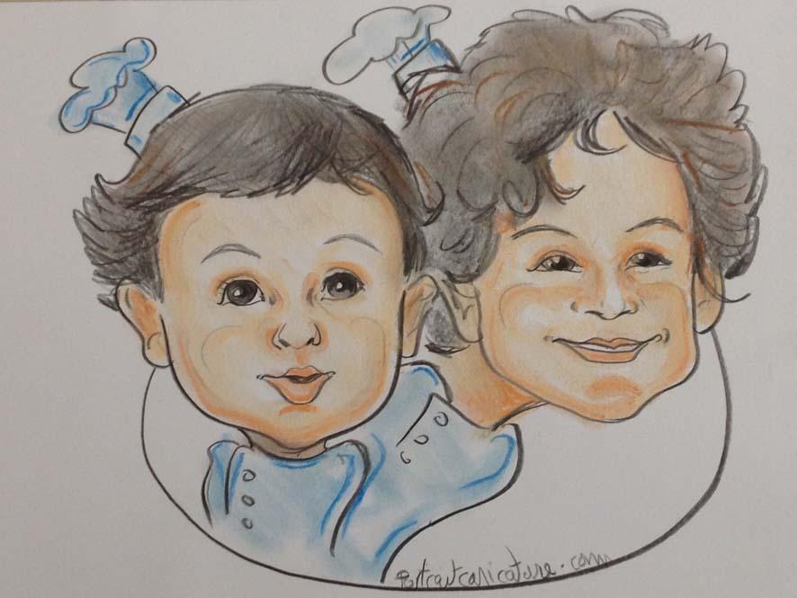 Caricatures d enfants en couleur