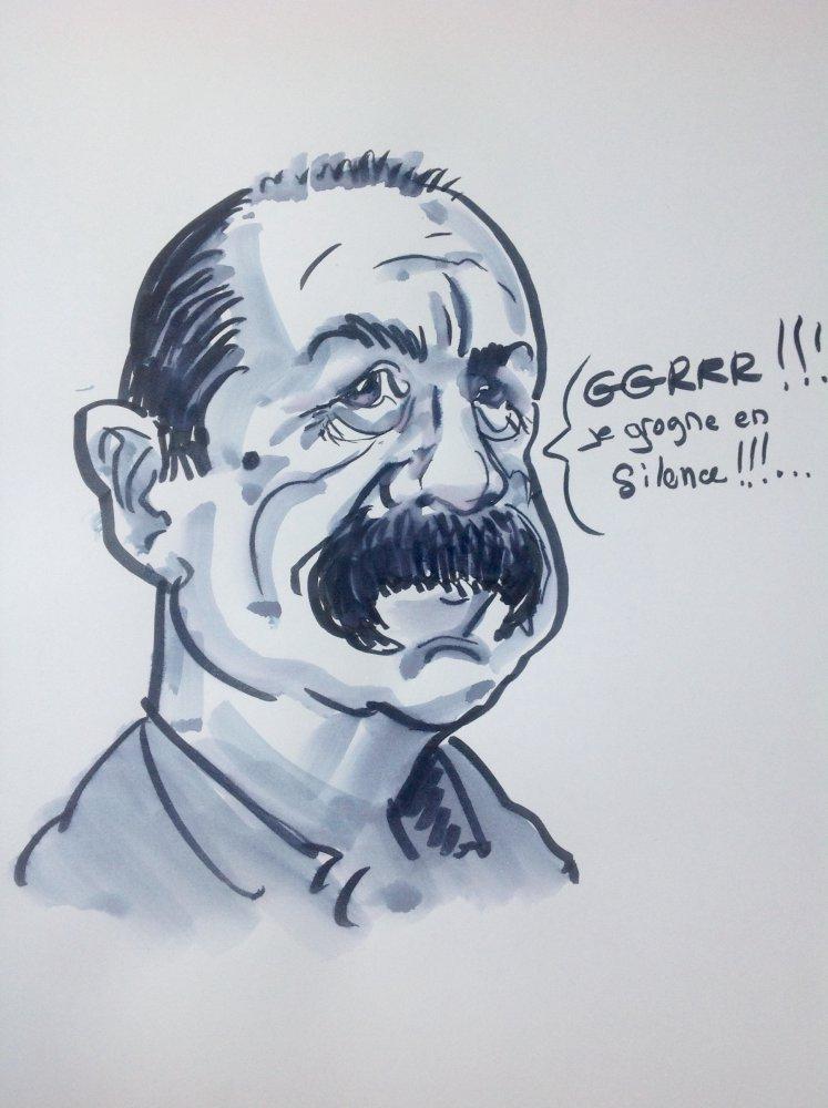 Philippe Martinez caricature