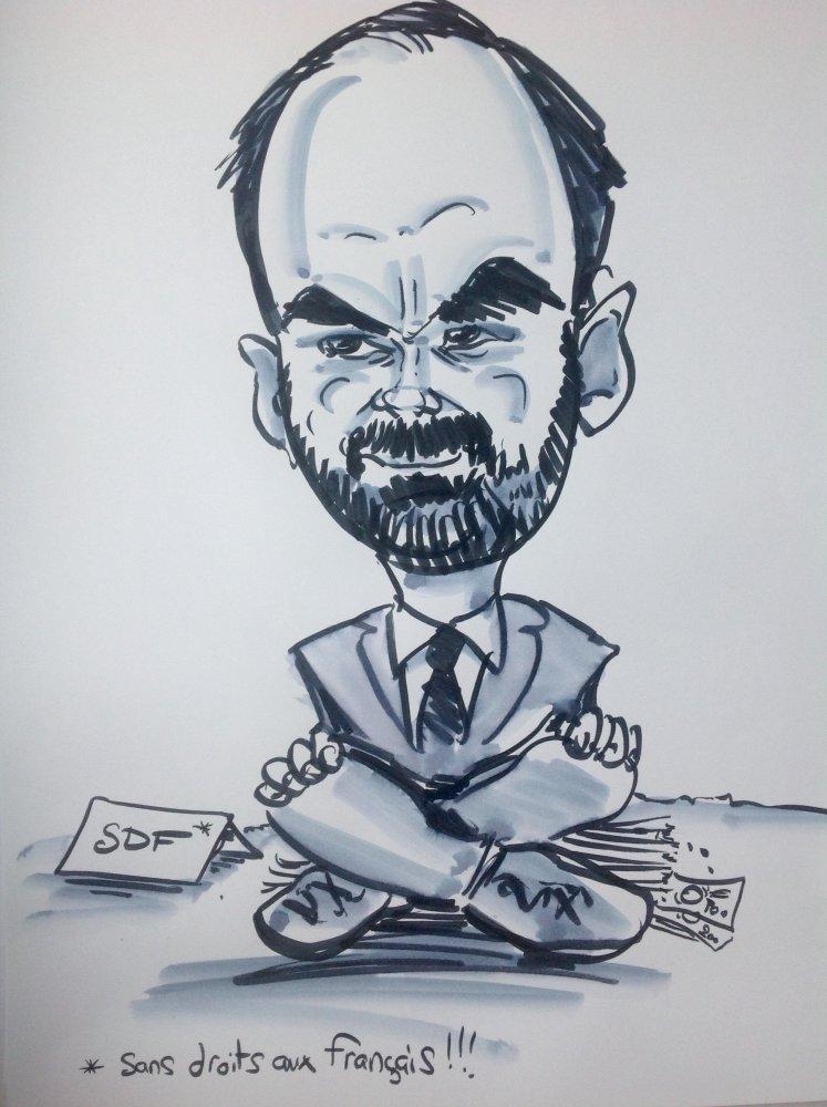 Caricature Édouard Philippe
