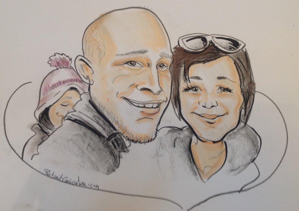 Caricature mariage animation caricature