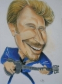 caricature Johnny Halliday JPG