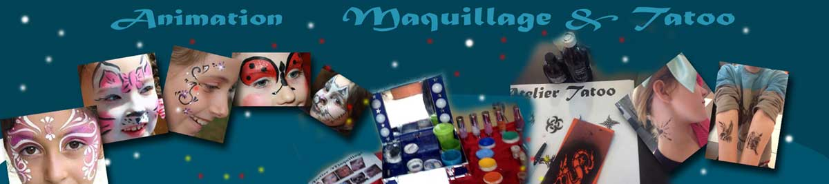 maquillage tatoo animation