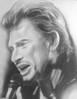portrait Johnny Halliday